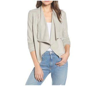 BlankNYC Faux Suede Jacket In Gray Size  Medium